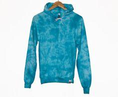 American Apparel Tie Dye Hoodie Turqouise by TyreDyes on Etsy