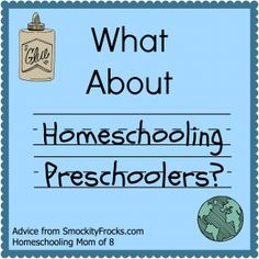 What About Homeschooling Preschoolers? ~SmockityFrocks.com