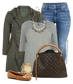 """""""Plus Size - Fall Casual Outfit"""" by alexawebb :heart: liked on Polyvore featuring H&M, BaubleBar, J.Crew, Louis Vuitton, Melinda Maria, Michael Kors, Tory Burch and Kate Spade"""