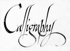 Learn how to do calligraphy!