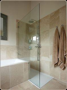 Wet room and bath a small bathroom idea!