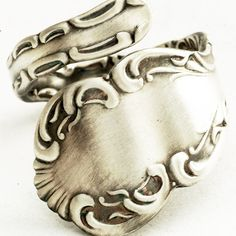 Edwardian Rococo Sterling Silver Spoon Ring by Spoonier on Etsy. $46.00, via Etsy.