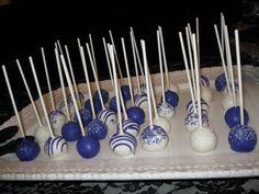 Royal Blue Velvet cake pops by sugarqueencakepop MMmmmm