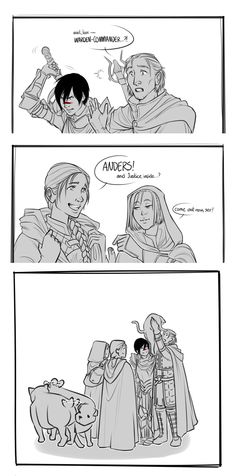 +he was a gift! a noble beast by against-stars on DeviantArt Aw! The Warden-Commander and Leliana brought Ser Pounce-a-Lot back to Anders!