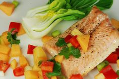 Roasted Salmon with Melon Salsa - recipe for healthy eyes