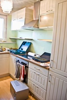 tiny european kitchen before makeover - Pudel-design featured on @Remodelaholic