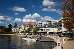 Waterside restaurants and pubs - Claisebrook Cove, East Perth. Only 5 minutes east of Perth CBD. Western Australia, Australia Travel, Most Beautiful Cities, Capital City, Perth, Maps, Restaurants, To Go, Places To Visit