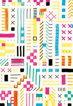 Pattern Box - Curated by New York City's celebrated Textile Arts Center Geometric Patterns, Textile Patterns, Textile Prints, Textile Design, Surface Pattern Design, Pattern Art, Abstract Pattern, Pretty Patterns, Pattern Illustration