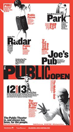 The Public Theater by Pentagram , via Behance