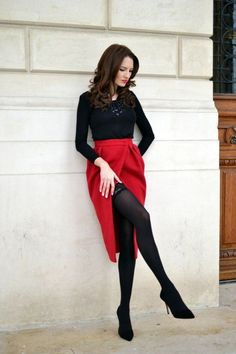 Super-Hot date-night outfit ideas - fashion style magazine meias, atrizes, Date Outfits, Night Outfits, Sexy Outfits, Girl Outfits, Fashion Outfits, Sexy Date Outfit, Red Outfits For Women, Blue Skirt Outfits, Black Outfits