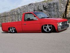 Read about this custom 1991 Nissan Hardbody mini truck that is home built in Mini Truckin' Magazine. Mini Trucks, Cool Trucks, Nissan Hardbody, Chevy C10, Side View, Audio, Cars