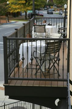 Our balcony, available for seating!