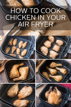 How to Cook Chicken in Your Air FryerYou can find How to cook chicken in air fryer and more on our website.How to Cook Chicken in Your Air Fryer Air Fryer Recipes Low Carb, Air Fryer Recipes Breakfast, Air Fryer Dinner Recipes, Air Fryer Recipes Chicken Wings, Air Fryer Fish Recipes, Air Fryer Chicken Thighs, Air Fryer Recipes Potatoes, Grilled Chicken Wings, Breakfast Sandwiches
