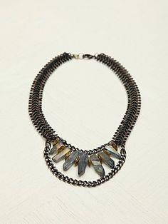 wanderlust crystal collar