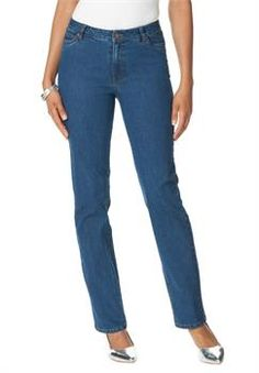 Plus Size Roaman's® Invisible Stretch Straight Leg Jeans