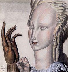 Jean Dupas  The New Glove  1928  chalk  20 x 21cm