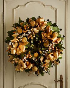 "Golden 30"" Christmas Wreath Neiman Marcus"