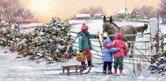 Время Рождества - поры чудесной ... Художник Richard MacNeil   Записи AЯT (Искусство)   УОЛ