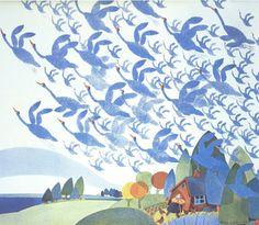 Rie Munoz - Sandhill Cranes