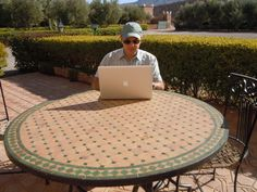 Laptop Lifestyle in Morocco.