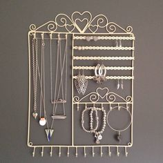 Wall Jewellery Hanger Hooks Necklaces Two Colours