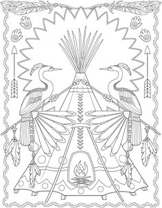 Native American Mandala Coloring Pages Native American Designs to Color Creative Haven Native Mandala Coloring Pages, Animal Coloring Pages, Coloring Pages To Print, Coloring Book Pages, Printable Coloring Pages, Coloring Sheets, Native American Patterns, Native American Symbols, Native American Design