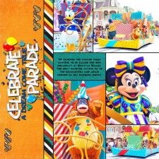 Template Challenge #65 - MouseScrappers - Disney Scrapbooking Gallery