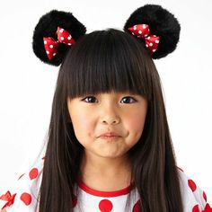 #Minnie Mouse #Hairbows - they clip on your hair AND they're fuzzy! #yay #disney