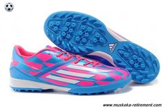 Buy (Pink White Blue) Adidas F50 AdiZero TRX TF For Wholesale