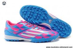 Buy (Pink White Blue) Adidas F50 AdiZero TRX TF For Wholesale