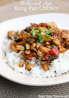 Restaurant Style Kung Pao Chicken - the BEST, easiest, tried and tested recipe! MyRecipeMagic.com