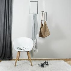 Handcrafted iron hanger, square and rectangular shaped, that stuns from the ceiling. Ceiling Hangers, A Table, Iron, Inspiration, Furniture, Home Decor, Rooms, Life, Powder Room