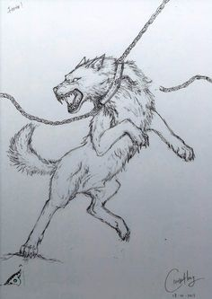 chained wolf tattoo - Google Search