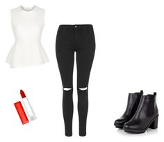 """""""Noir"""" by sarabonetmola ❤ liked on Polyvore featuring Topshop, Alexander Wang and Maybelline"""