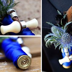 This just made me want a wedding and a bouquet made like this - I would probably have to make it myself - I am sure no florist would do it! I could even incorporate my pink bejeweled duck call and jd's blud goose call I got him for graduation!!!!! oh, Jdeeeeeeeeeeee! <3