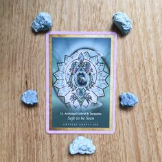 Card of the Day - 11 July: Safe to be Seen | Crystal Oracle Mandala by @alanafairchild #turquoise. Read more on the blog!