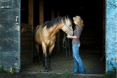 Amber Marshall and her horse Cash