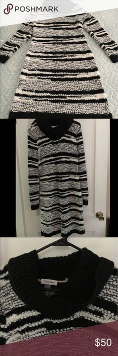 Calvin Klein Stripped Winter Dress Calvin Klein Stripped Winter Dress Calvin Klein Dresses