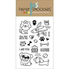 """Paper Smooches Clear Stamps, 4"""" x 6"""""""