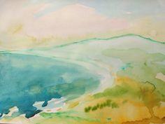watercolor labdscape