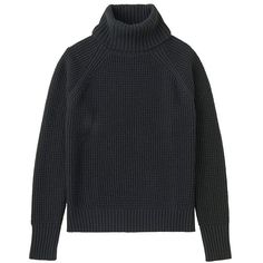 Cashmere Blend Turtle Neck Cropped Sweater (€47) ❤ liked on Polyvore featuring tops, sweaters, black, turtle neck crop top, thick sweaters, thick turtleneck sweaters, loose turtleneck sweater and turtle neck sweater