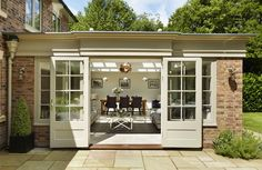 Wintergarten Westbury orangery with sliding traditional doors Selecting The Right Patio Furniture Cu Orangery Extension Kitchen, Orangerie Extension, Conservatory Extension, Conservatory Ideas, Garden Room Extensions, House Extensions, Kitchen Extensions, House Extension Design, House Design