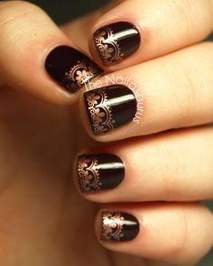 The Nailasaurus | UK Nail Art Blog: Snippet: Copper Tips