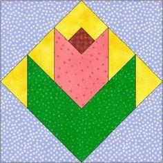 Rose Bud Paper Piecing Quilt