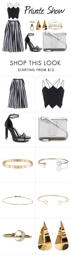 """""""Private Show"""" by anaelle2 ❤ liked on Polyvore featuring Dolce&Gabbana, David Koma, Yves Saint Laurent, Givenchy, Cartier, Letters By Zoe, Melissa Joy Manning and Valentino"""