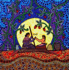 Strawberry Reconciliation Moon - Leah Dorion