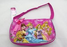 """Disney 5 Princess Pink Mini Purse Hand Bag / Hobo Bag - Tangled Rapunzel by Disney Tangled. $10.78. Measures ; Approx. 9 x 5 x 3""""  Handle Drops ; 5""""  Material ; Canvas  Zipper Closure / Officially Licensed Product !!. Save 33% Off!"""