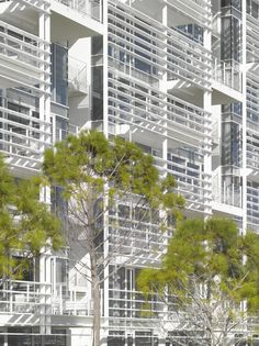 The Beach Houses, Jesolo Lido Village, Italy by Richard Meier & Partners Architects School Architecture, Residential Architecture, Contemporary Architecture, Architecture Details, Classical Architecture, Richard Meier, Building Skin, Building Facade, Building Design