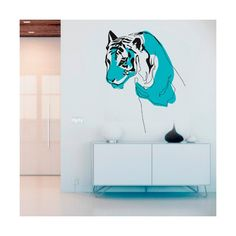 Decora con #vinilo tu #pared con este elemento natural de #tigre con un toque entrañable / Decorate with #vinyl your wall with this natural element of #tiger with a touching touch