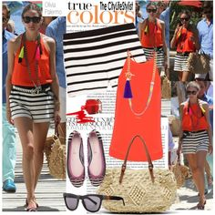 How To Wear Olivia Palermo In Tibi Mykonos Vacation Outfit Idea 2017 - Fashion Trends Ready To Wear For Plus Size, Curvy Women Over 50 Olivia Palermo Street Style, Olivia Palermo Outfit, Summer Holiday Outfits, Holiday Outfits Women, Orange Shorts Outfit, Mykonos, Greece Outfit, Over 40 Outfits, Resort Wear For Women